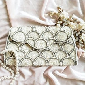 Vintage David's Import Embellishment Clutch